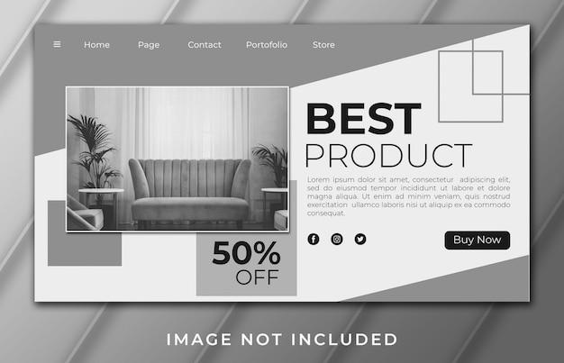 Melhor modelo de página de destino do banner do produto
