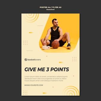 Melhor modelo de panfleto de basquete