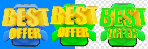 Melhor oferta 3d isolada
