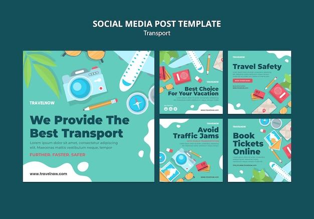 Melhor postagem de mídia social de transporte