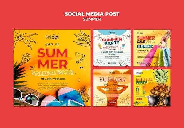 Melhor publicação de mídia social de vendas no verão