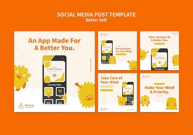Melhores postagens nas próprias redes sociais