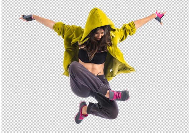 Menina adolescente dançando hip hop