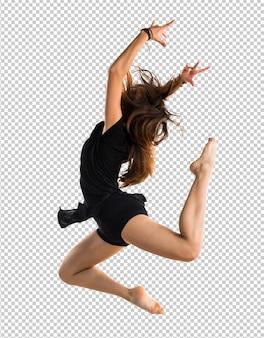 Menina jovem, dançar