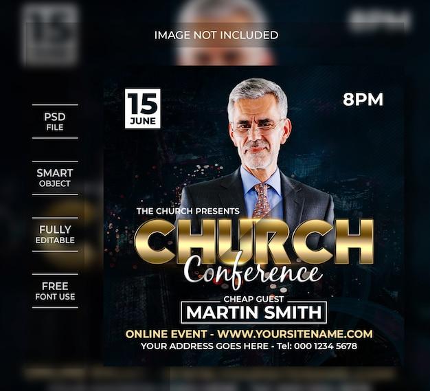 Mensagem da mídia social da conferência da igreja