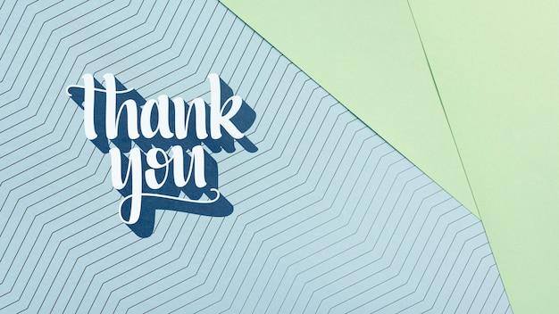 Mensagem de agradecimento no cartão