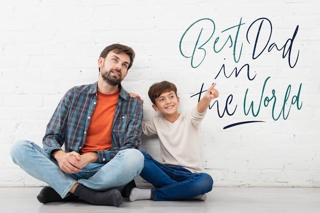 Mensagem do filho para o pai no dia dos pais