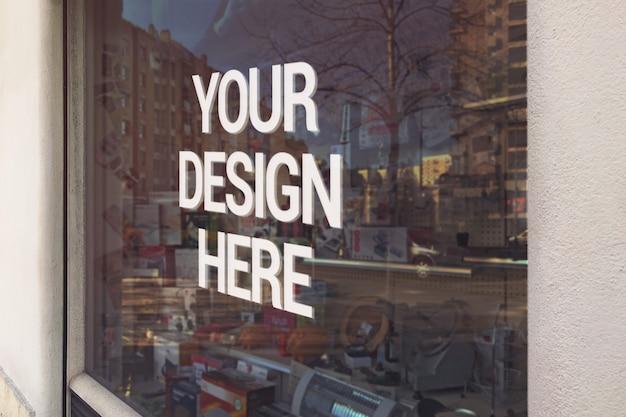 Mensagem no shop mockup