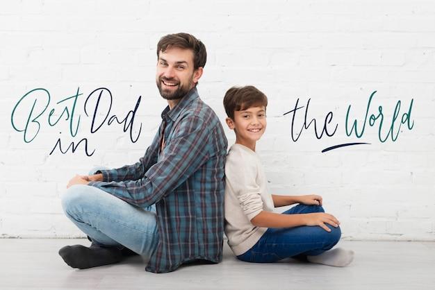 Mensagem positiva do filho para o pai