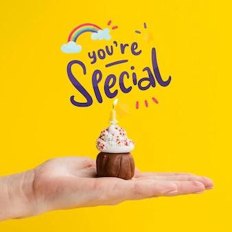 Mensagem positiva para o dia do aniversário