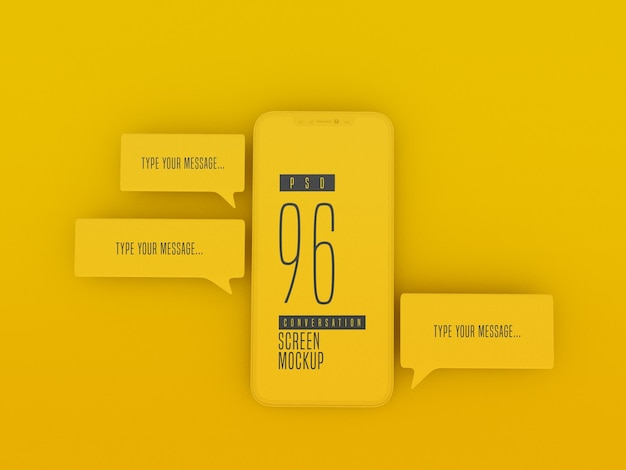 Mensagens de bate-papo no telefone celular