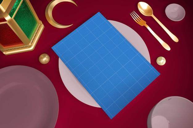 Menu do restaurante ramadan