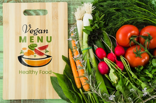 Menu vegan com legumes nutrientes