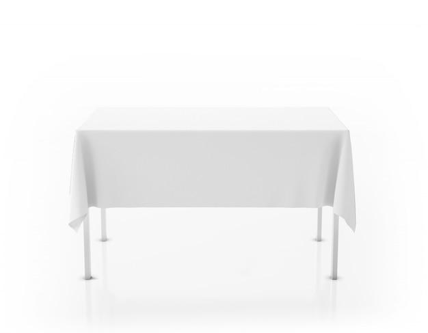 Mesa com toalha de mesa