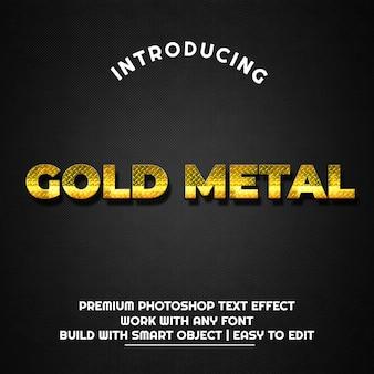 Metal dourado - modelo de efeito de texto