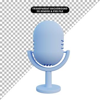 Microfone de ilustração 3d
