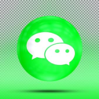 Mídia social coleção 3d de ícone de balão template wechat