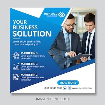 Mídia social de banner de postagem de negócios