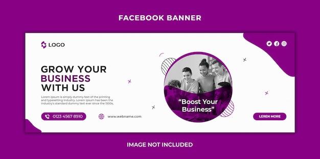 Mídia social de marketing empresarial digital, capa de linha do tempo do facebook e modelo de banner da web
