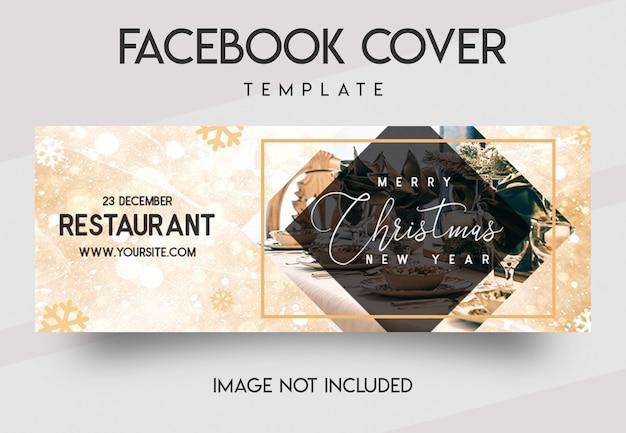 Mídia social de restaurante e modelo de capa do facebook