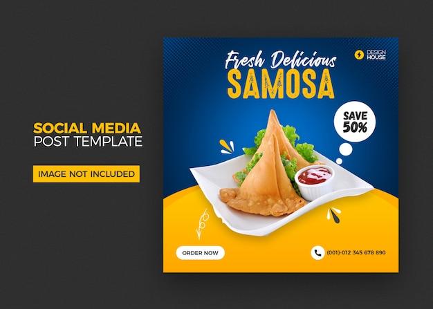 Mídia social de restaurante postar banner