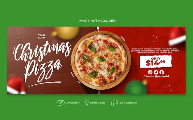Mídia social do menu de comida de natal e modelo de postagem do instagram
