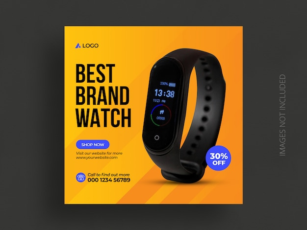 Mídia social do produto postar modelo ou banner da web de venda