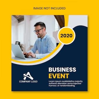 Mídia social instagram post por evento de negócios