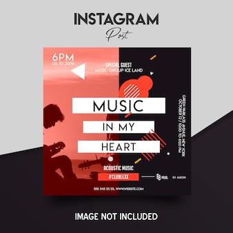Mídia social instagram post