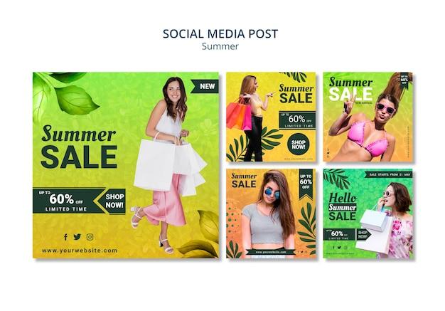 Mídia social pós venda de verão