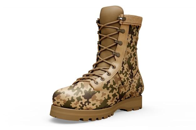 Militar botas mockup