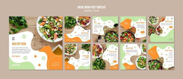 Mime-se com comida saudável post de mídia social