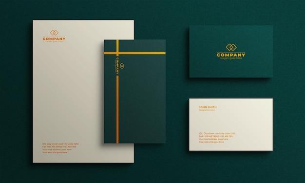 Mini design de maquete de papelaria
