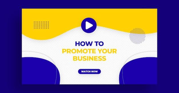 Miniatura do youtube ou modelo de banner da web para workshop ao vivo de marketing digital