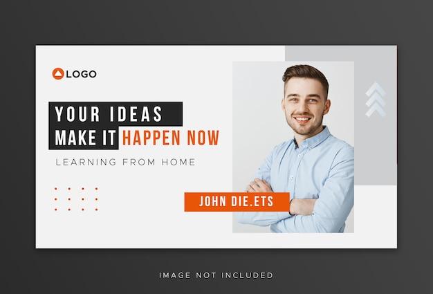 Miniatura do youtube para modelo de promoção de negócios de workshop