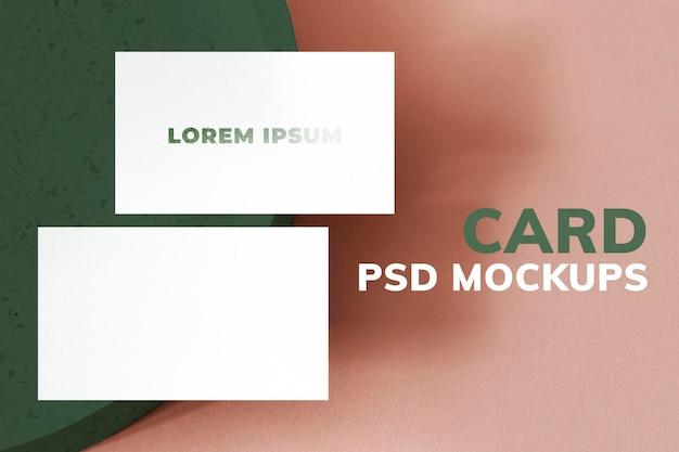Minimal cartão de visita mockup identidade de marca psd