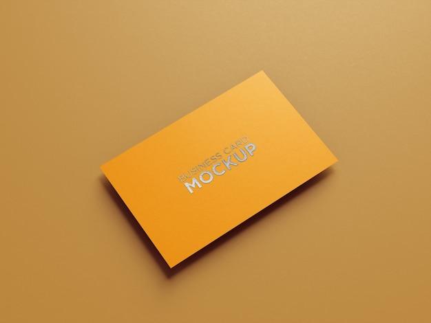 Minimalista de maquete de cartão de visita