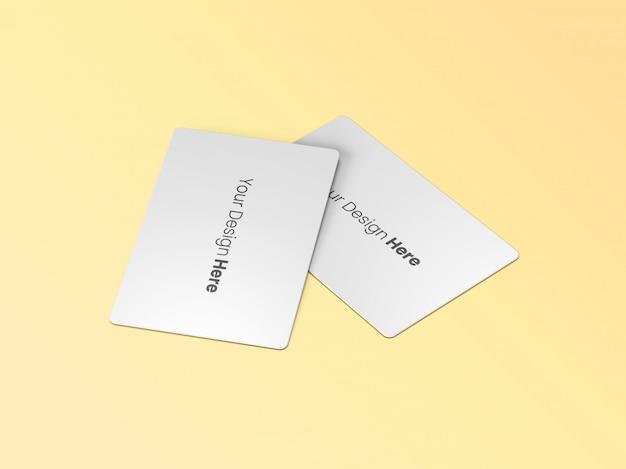Mínimo de dois cartões de visita