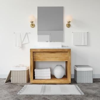 Mobília moderna da sala de banho