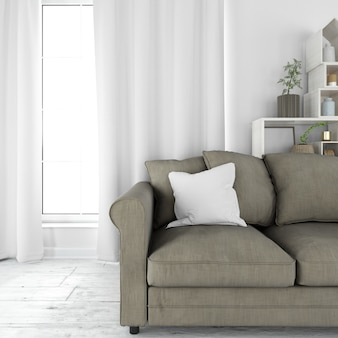 Mobília moderna da sala de estar