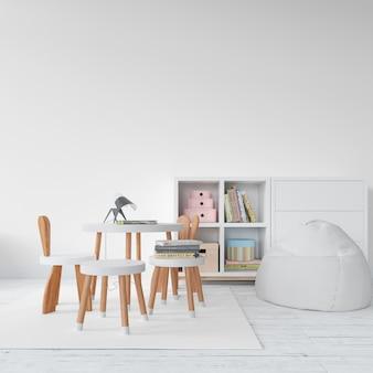 Mobília moderna do quarto dos miúdos
