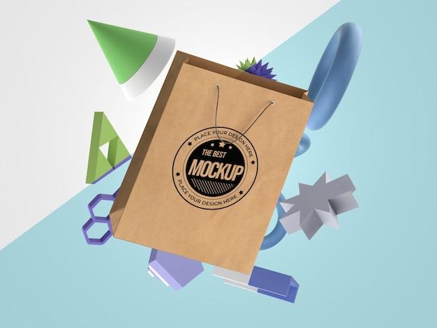Mochila abstrata de mercadoria de saco de papel