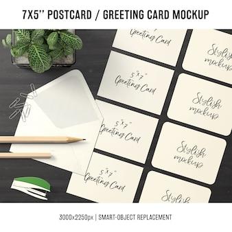 Mock do cartão de felicitações