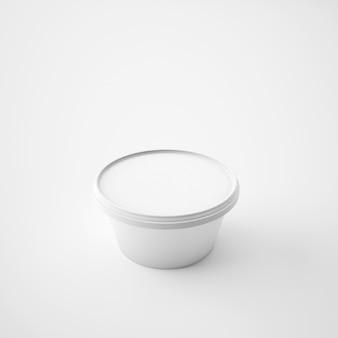 Mock-se modelo recipiente de balde de banheira de plástico