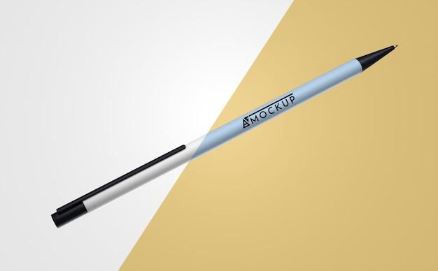 Mock-up abstrato com uma única caneta