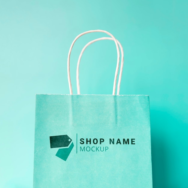 Mock-up bag com promoção de venda