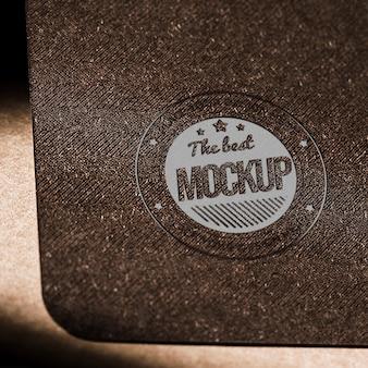 Mock-up cartão de papel comercial com textura