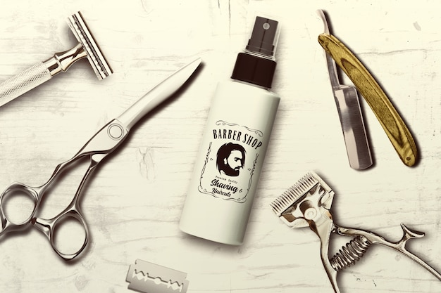 Mock-up de barbearia