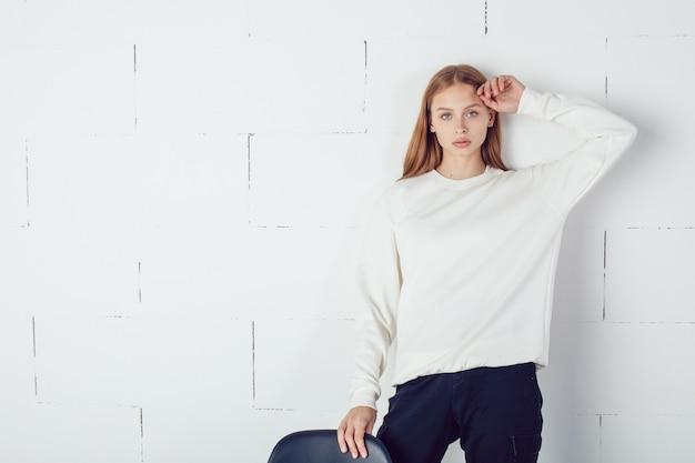Mock-up de camiseta branca