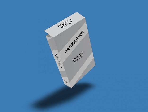 Mock-up de embalagem de caixa